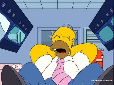 Homer Simpson gang med en powernap